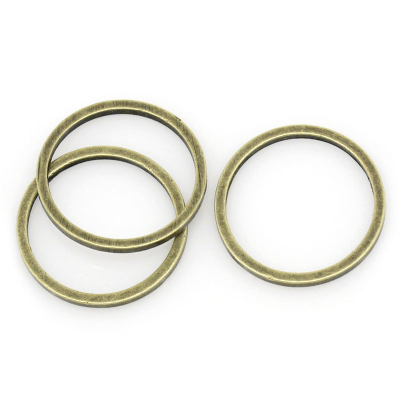 DoreenBeads Copper Closed Soldered Jump Rings Round Antique Bronze 12mm( 4/8