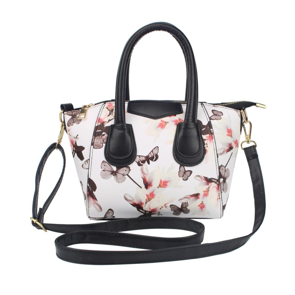 Famous Brand Floral Printed Handbag Fashion Women Handbag Shoulder Bags Ladies PU Leather Tote Bag Bolsos feminina