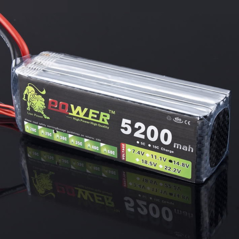LION POWER Lipo Battery 4S 14.8v 5200mah 30c T Plug/XT60 Plug Helicopter Car RC Boat Quadcopter Remote Control toys Battey lion power 6s 22 2v 4200mah lipo battery 30c for remote control helicopter and rc car 6s lipo 22 2 v 4200 mah t xt60 plug