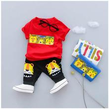 ZWXLHH 2019 Summer Baby Boys Clothing Sets Kids Children Casual Clothes Suits Cotton Cartoon T Shirt Shorts Infant Toddler  Suit цена 2017