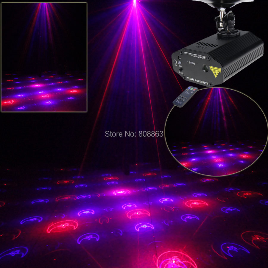 High Quality Mini Red Blue Laser 12 Patterns Xmas Projector Dance Disco Bar Family Party Stage Lights DJ lighting Light Show T14 niugul dmx stage light mini 10w led spot moving head light led patterns lamp dj disco lighting 10w led gobo lights chandelier