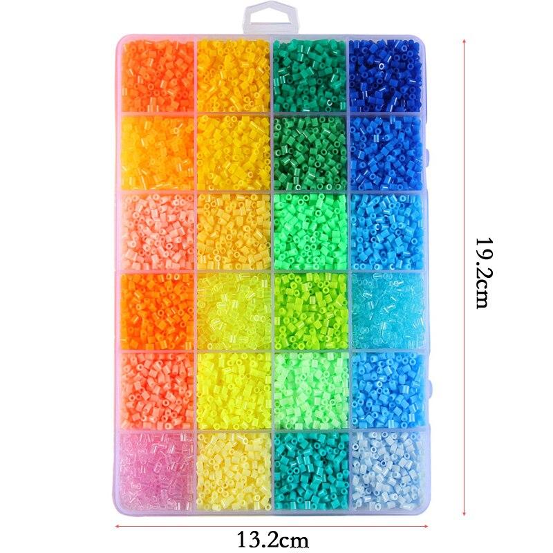 72 perles Perler couleur 39000 pièces boîte ensemble de perles Hama 2.6mm pour enfants puzzle éducatif bricolage jouets fusible perles panneau perforé - 5