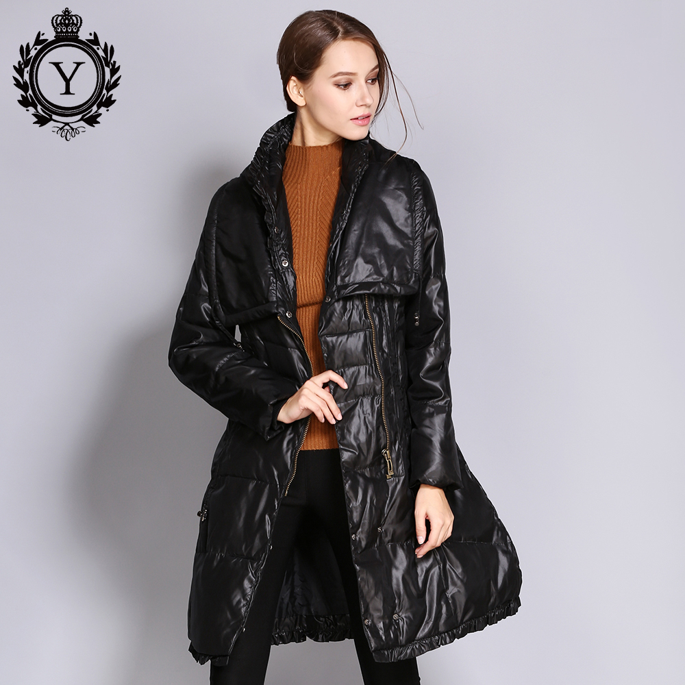 COUTUDI Women   Down   Jackets Winter Plus Size Long Duck   Down   jacket Warm Slim High Street Style Quality   Down     Coat   Female Parka
