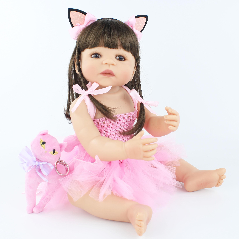 55 cm nuevo juguete de silicona Reborn Baby Doll para niñas recién nacidas princesas bebés vivos Bebe clásico Boneca bañarse ducha juguete-in Muñecas from Juguetes y pasatiempos    1