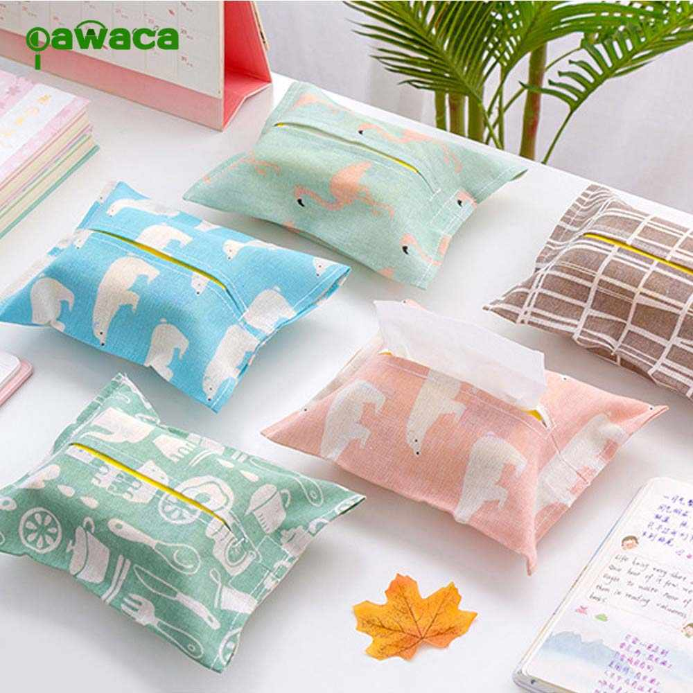 Storage Box Cotton Temperament Tissue Box Plush Home Car Napkin Paper Container Creative Paper Case Pouch Home Decoration Holder