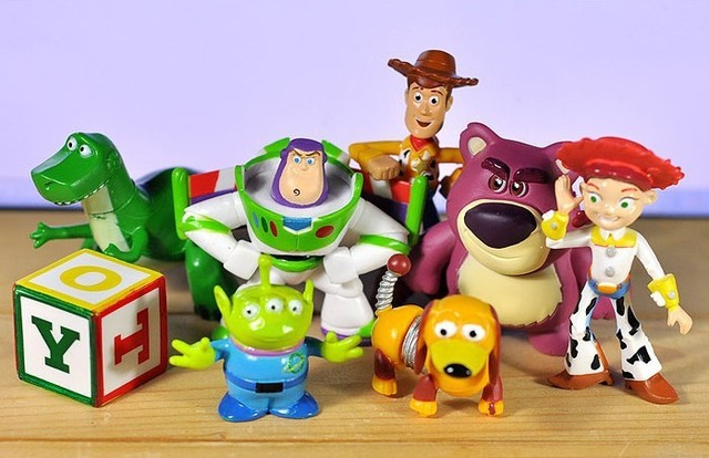 Toy Story Action Figures Set : Free shipping pcs set toy story sheriff woody buzz lightyear