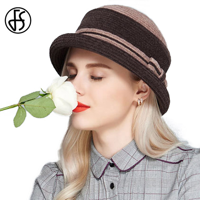 1b844aff185 FS 2017 Autumn Winter Fashion Fedora Felt Hat Vintage Ladies Church Hats  Elegant Classic Dome Short Brim Fedoras Bowler Caps