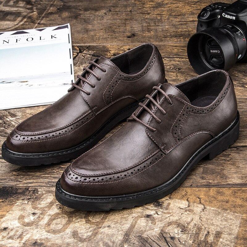 Preto Causalidade Alta Masculina De Macio A130 Oxfords Dos Couro Marca Negócios marrom Homens Preto Calçados Moda Qualidade Sapatos Mens HIYZn