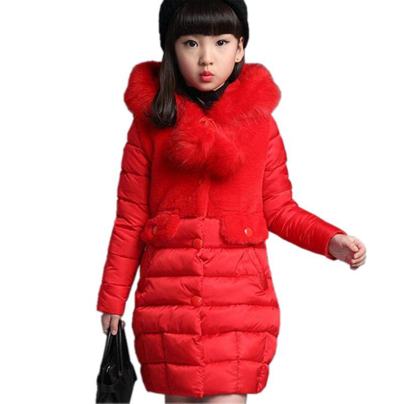 Wintermantel Für Kinder Jacke 40Off Warme Winter Baby Fell 13 Us28 2017 Feste Mädchen 0 Kapuze Schlanke Parka Jahre 5 Kind Baumwolle Dicke xrCBWdoe