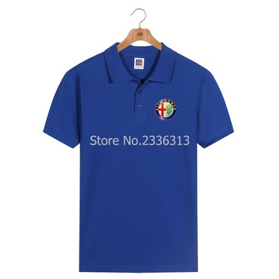 Polo Back To Search Resultsmen's Clothing Men And Women Summer Alfa Romeo Polo Shirt Custom Car Club Cotton Lapel Short Sleeve Tooling 4s Shop Uniforms