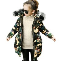 3 13T Winter Jacket Girls Parkas Baby Coat Windbreaker Child Outerwear Thick Teenager Clothes Kids Snowsuit Down Girls Jackets