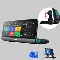 4 г ADAS автомобиля Камера DVR 784 зеркало gps Wi Fi Bluetooth Двойной объектив Зеркало заднего вида видео Регистраторы Full HD 1080 P DVR регистраторы
