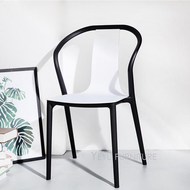 Elegant Minimalistischen Modernen Design Doppelte Farbe Outdoor Stapelbaren  Plastikstühle, Stapel Stühle, Verhandeln Stuhl. Hotel