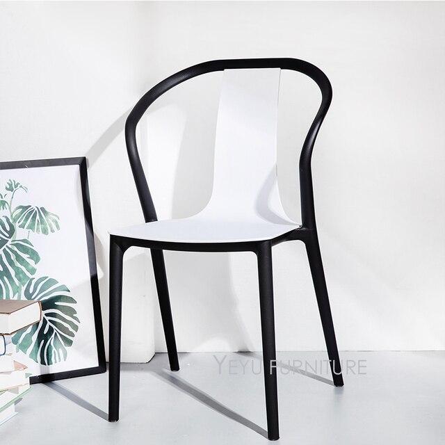 Sedie Per Esterno In Plastica.Moderno E Minimalista Design Doppio Colore Esterno Sedie Impilabile