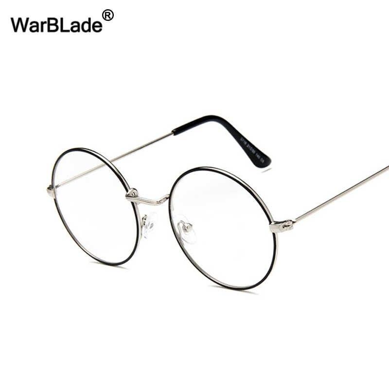 17f2ebd13b3 WarBLade Retro Round Clear Lens Glasses Vintage Gold Metal Frame Eyeglasses  For Men Women Optical Eyewear
