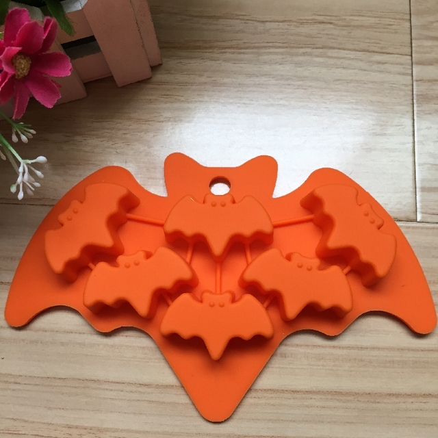 6 Cavity Silicone Mould Bat Shape Ice Mold Cake Jelly