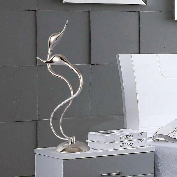 art deco cisne lmpara de mesa luz