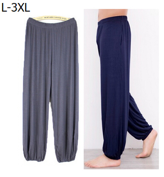 Plus size pajama bottoms bloomers 2017 summer autumn men women loose sleepwear modal lounge pants pajamas