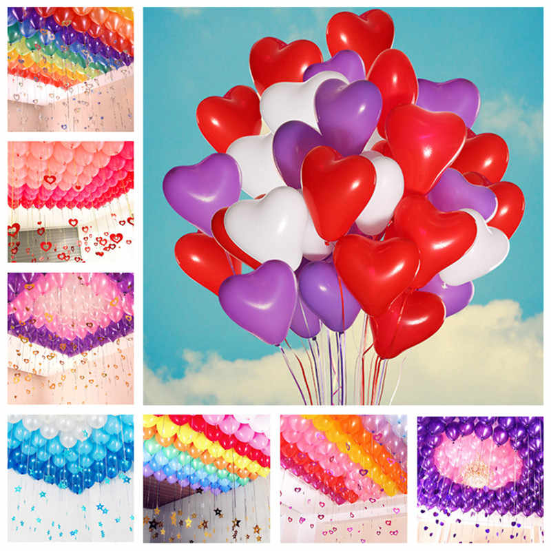 5pcs Heart Latex Balloons Birthday Party Decorations Ball Baby Shower Boy Wedding Balloon Sweet 16 Party Decoration Balloon Arch