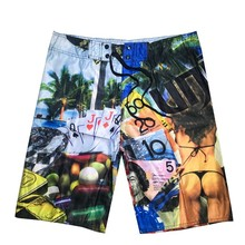 Funny Sexy Girl Printed Board shorts 2019 New Summer Men Brand Beach Board Shorts Bermuda Short Quick Dry Silver Boardshorts цена и фото
