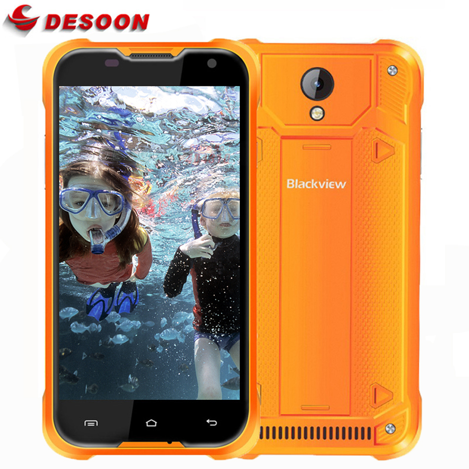 In Stock Original Blackview BV5000 Mobile Phone 5 Inch 1280*720 2G RAM 16G ROM MTK6735P Quad Core Android 6.0 4G LTE Waterproof