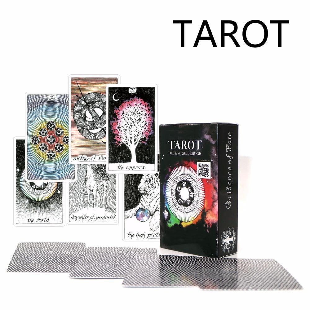 78 tarjetas misterioso Baraja de Tarot tarjetas, tarot mágico que nos guíe