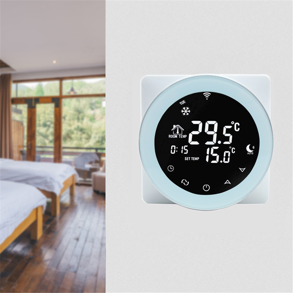Voice Control WiFi LCD Digital Thermostat Programmable for Alexa Google Home