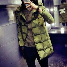 New Autumn Winter 2017 Men Fashion Parka Casual Mens Winter Jackets Hooede Chaqueta Hombres Veste Homme Male Warm Coat Big Size