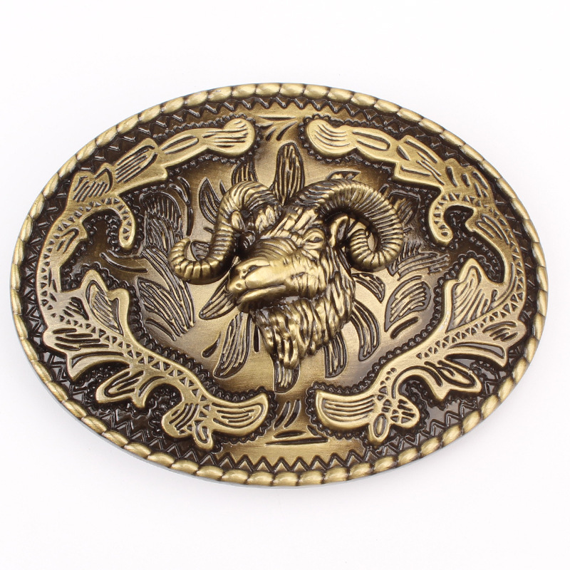 The Head Of The Sheep Belt Buckle Animal Pattern