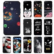 Ojeleye Fashion Black Silicon Case For Huawei Honor 9 Lite Cases Anti-knock Phone Cover Honor 9 Lite AL00/AL10/TL10 Covers чехол книжка vili neo honor 9 lite black
