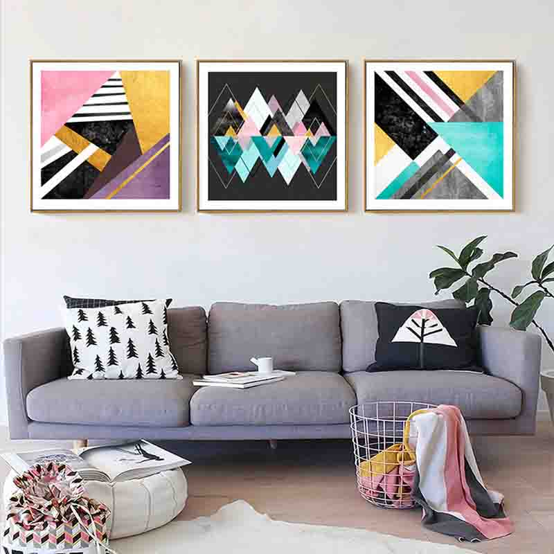 Aliexpress.com : Buy Fashion Nordic Abstract Composition ... on Room Decor Posters id=60480