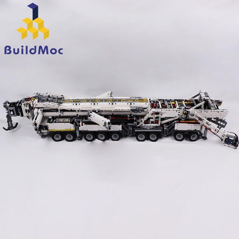 Construcción de grúa móvil de nueva potencia LTM11200 RC liebherrrr Kits de Motor técnico bloques de ladrillos cumpleaños niños regalo C104 - 6