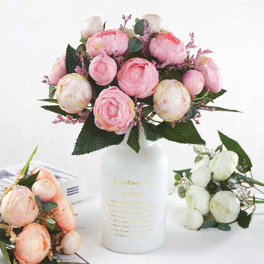 Высокое качество искусственные розы 7 голов Европейский красивый чайный розовый