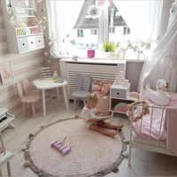 INS boule de cheveux ronde coton bébé Tapis de jeu Tapete Infantil décoration de chambre d'enfants Tapis accessoires de photographie Tapis Enfant