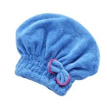 2018 Hot Styling Tools Microfibre Quick Hair Drying Bath Spa Bowknot Wrap Towel Hat Cap For Bath Bathroom  H7JP