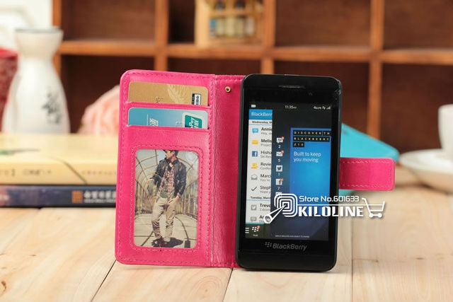 Slide Flip Leather Case Cover with stand For Blackberry Z10