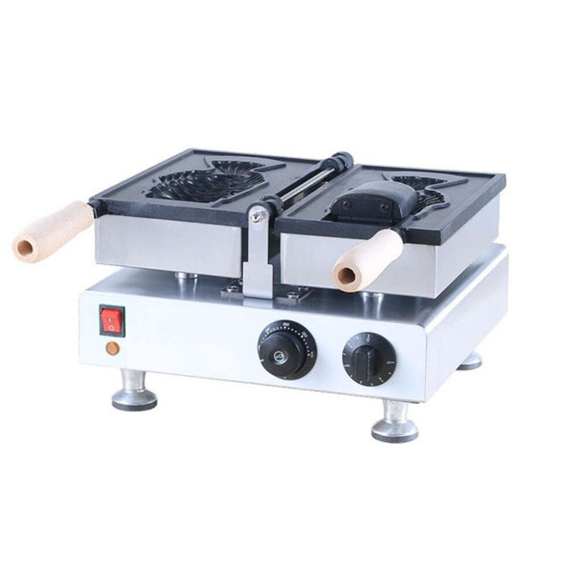 Jamielin Electric Fish Waffle Maker Taiyaki Waffle Machine Commercial Grain Fish Snapper Burn Grilled Fish Scone Home Appliances
