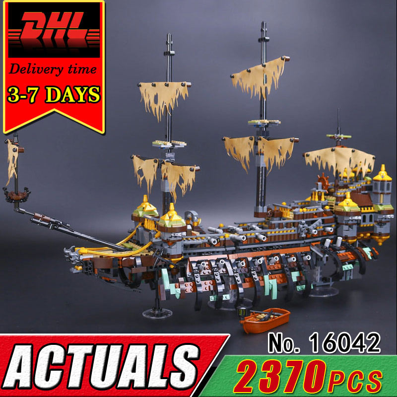 DHL LEPIN 16042 Pirate Boat The Slient Mary Building Bricks Blcoks Set Compatible Caribbean Military War Ship Toy Children Kids lepin 16042 2344pcs the slient mary set new pirate ship series children educational building blocks bricks toys model gift 71042
