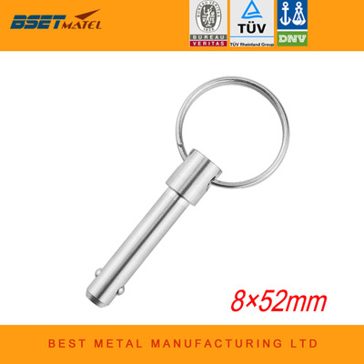 8mm BSET MATEL  Stainless Steel 316 Marine Grade Double Ball Quick Release Pin for Boat Bimini Top Deck Hinge Marine Boat