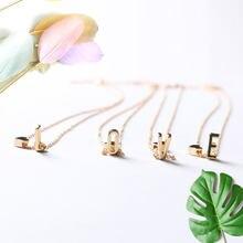 Модное ожерелье с подвеской в виде инициала имени 26 букв колье