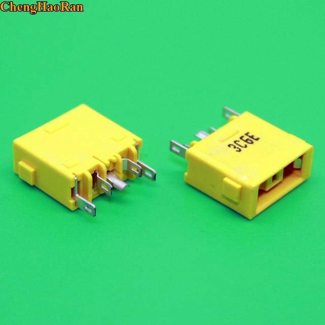 ChenghaoRan 1pcs yellow Square mouth DC Jack for Lenovo the super YOGA 13 X1 Carbon dc power jack