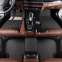 TENGRUI Custom Car Floor Mats For PEUGEOT 206 207 301 308 408 508 2008 3008 4008
