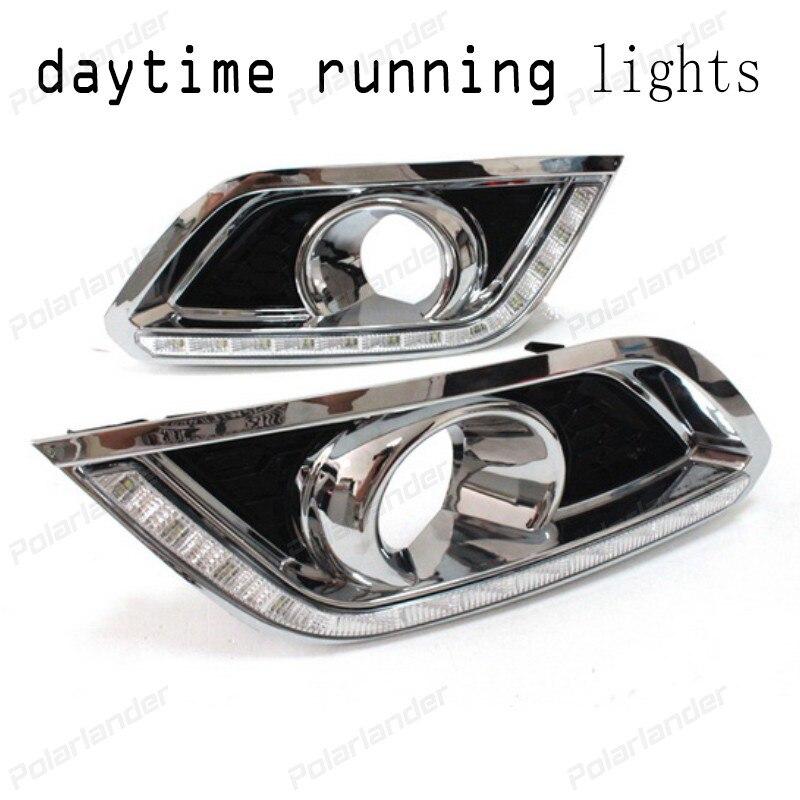 1 pair car styling LED Fog Lamp Daytime driving Running Light Turn Signal lights For B/uick E/ncore 2013-2015
