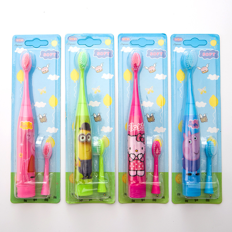 Children's Electric Toothbrushes Soft Brush Waterproof Body Cute Cartoon Electric Toothbrushes.