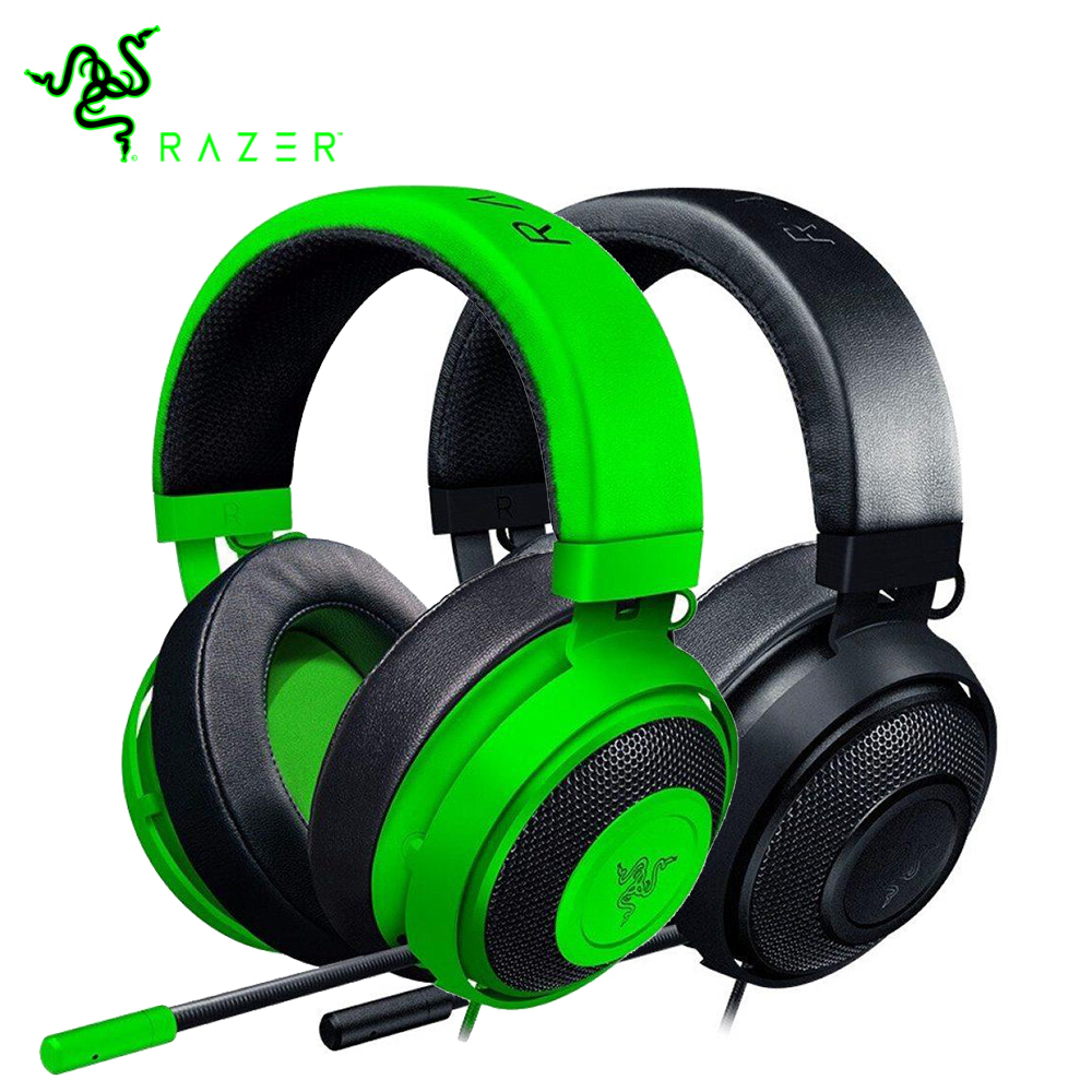 Razer Kraken 2019 New Version Gaming Headset 3.5mm Wired Headphone With Microphone Noise Cancelling Cooling Earcup Cushions