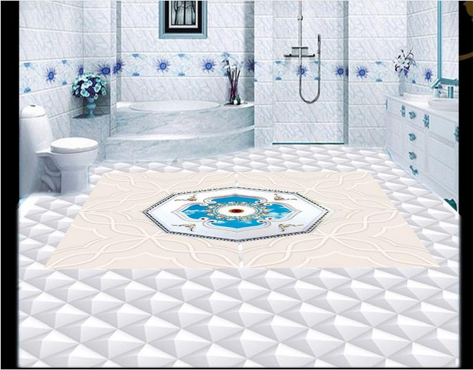 ФОТО 3d wallpaper custom 3d flooring painting wallpaper living room 3 d floor elegant marble tiles spelling a flower photo wallpaer