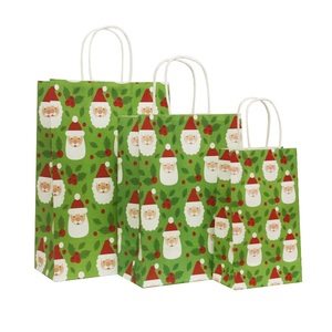 Image 5 - 40 Pcs/lot 21x13x8cm Christmas Paper Bag With Handles Decoration Paper Gift Bag For Christmas Event Party Lovely Cute Paper Bags