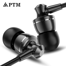 PTM D11 Super Bass Earphone Sport Headphones Noise Canceling With Mic Gaming Headset for Phone Iphone Xiaomi Samsung MP3 Earbuds