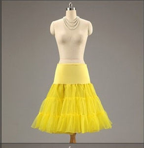 Image 4 - 15 Colors Puffy A Line Ruffles Knee Length Petticoat Underskirt Crinoline For Wedding Dress Accessories