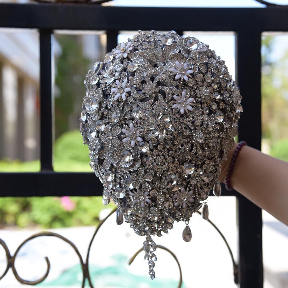 JaneVini Lyxiga Anpassade Smycken Silvervattenformade - Bröllopstillbehör - Foto 2